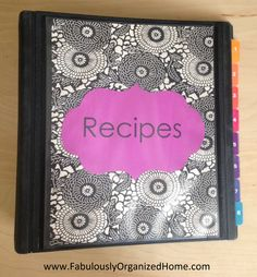Create a tried-and-true recipes organizer. Love this woman she has so many great ideas :)