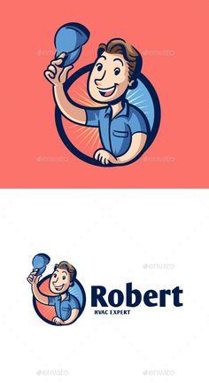 HVAC Professional Mascot Logo - Buildings Logo Templates Get it now!! #logo #designlogo #logos #logodesign #logopremium #brand #branding #business #company #abstract #creative #mascot #designoflogo #thelogo #thedesign #logotemplate #print #logocompany #logoesport #logoanimal #logoabstract #envato #envatomarket #graphicriver #premiumdesign #creativemarket #freepik #shutterstock #behance #dribbble