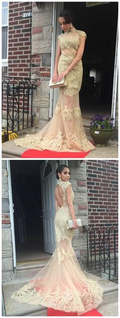 prom dresses long,prom dresses applique,prom dresses mermaid,prom dresses modest,prom dresses 2018,prom dresses tulle,prom dresses champagne #highneck #tulle #cheap #2018
