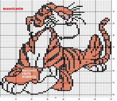 Shere Khan The Jungle Book perler bead pattern by Mauricette