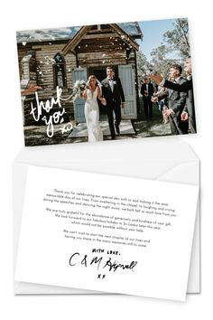 10 Wording Examples For Your Wedding Thank You Cards regarding Wedding Thanks You Cards - Party Supplies Ideas Wedding Thank You Cards Wording, Wedding Thank You Postcards, Wedding Cards, Wedding Wording, Wedding Invitations, Wedding Messages, Wedding Programs, Invites, Wedding Venues