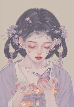 Anime Art Girl, Manga Art, Cute Anime Character, Character Art, Manga Watercolor, Japanese Art Modern, Manga Anime One Piece, Anime Couples Drawings, Korean Art