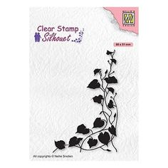 Tampon clear transparent scrapbooking Nellie Snellen COIN FEUILLE 079 Tampons Transparents, Lavinia Stamps, Tree Silhouette, Scrapbooking, Home And Deco, Winter Time, Clear Stamps, Ivy, Craft Supplies