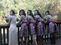 I love the dresses, bride and bridemaids and O love the boots