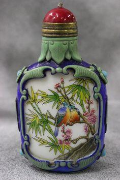 Chinese enamel porcelain snuff bottle