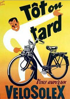 René Ravo pour VéloSolex - Vintage poster Solex by René Ravo