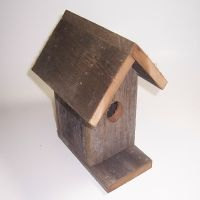 Bird house out of old fence wood