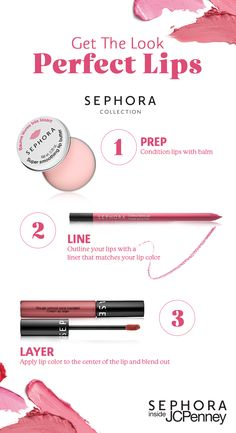 This Mother's Day, amp up your makeup with this easy-to-do lip tutorial. Whether you're spending time at brunch or dinner, getting the Perfect Lips is as easy as 1-2-3. So this Mother's Day treat yourself and come into your JCPenney store and receive a Mini Makeover from Sephora.