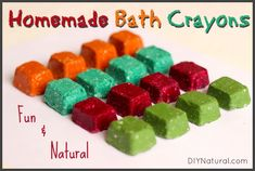 Homemade Bath Crayons - For A Fun and Natural Bath Time – Homemade bath crayons! After all, what's more fun for children than drawing on things they're not normally supposed to draw on? They'll love you for this.