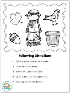 Fall Language Activities & Craft | Fall Speech Therapy Worksheets