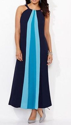 CATHERINES TRANQUIL WAVES MAXI DRESS - PLUS SIZE 2X (22/24W) #Catherines #Maxi