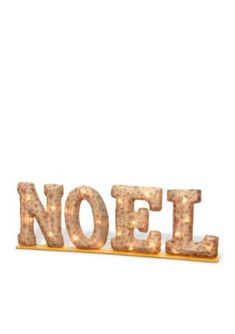 National Tree Company  Burlap NOEL With Metal Base And Lights