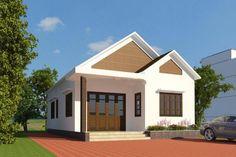 Mẫu nhà cấp 4 đẹp hiện đại sang trọng ở nông thôn năm 2017 Da Nang, Thai House, Lunges, Simple Designs, Shed, Outdoor Structures, House Design, Mansions, House Styles