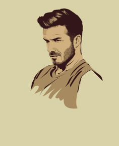 david beckham poster design 15 Cool Illustrations of Famous Football Players