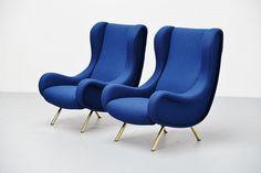 Marco Zanuso Senior Lounge Chair Pair Arflex 1951 | Mass Modern Design