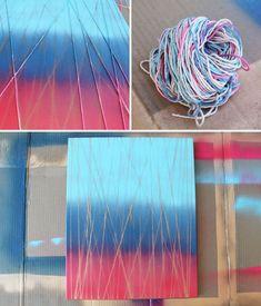 Cuadros multicolores usando hilo.... - http://www.oroscopointernazionaleblog.com/cuadros-multicolores-usando-hilo/