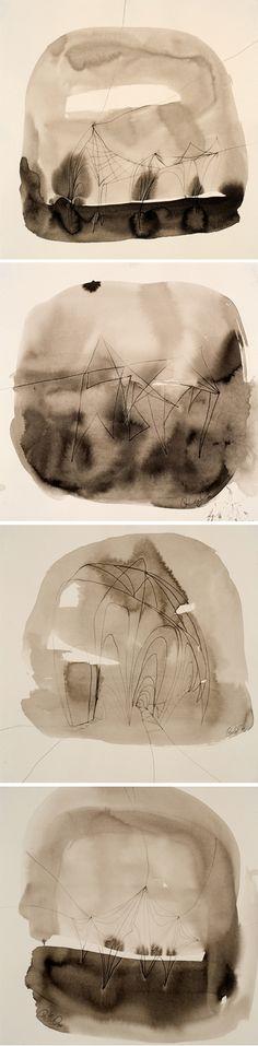 monochromatic terrariums Caroline Wright