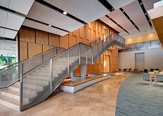 Concordia University - Woven Wire Mesh Interior Raiings Stairways Infill Panels - Banker Wire | Banker Wire