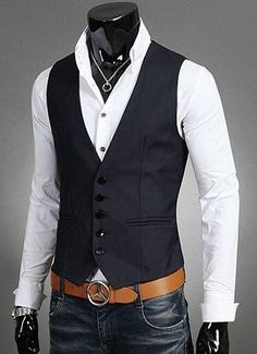 Plus Size Mens Dress Vests For Man Suit Sleeveless Male For Vest Waistcoat Designs Wedding Dresses Blazer Coat Vest Casual Blazer, Men Casual, Smart Casual, Casual Tops, Mens Suit Vest, Mens Suits, Jacket Men, Waistcoat Designs, Fashion Clothes