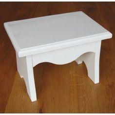 White Wooden Step Stool for Children: Amazon.co.uk: Baby