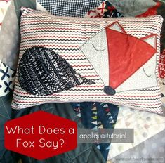 What Does a Fox Say Free Applique Template | patchwork posse #applique #freepattern #quilt