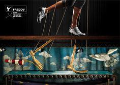 Freddy  Print Campaign 2010  Creative Directors:  Giorgio Cingnoni Federico Ghiso  Art Director: Giorgio Cignoni  Copywriter: Federico Ghiso  Photographer: Riccardo Bagnoli