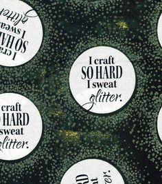 Novelty Cotton Fabric-Sweat Glitter