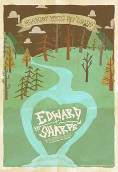Edward Sharpe gig poster