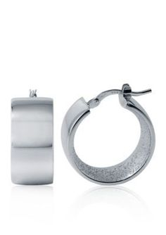Charles Garnier  Sterling Silver Hoop Earrings
