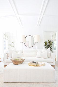 All white living room inspiration | Image via MyDomaine