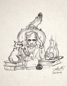 """""""They who dream by day are cognizant of many things which escape those who dream only by night."""" Edgar Allan Poe by David G. Forés"""