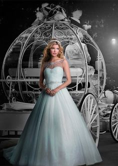 Get your own glass slippers. | 35 Wedding Gowns Every Disney Obsessed Bride Will Love
