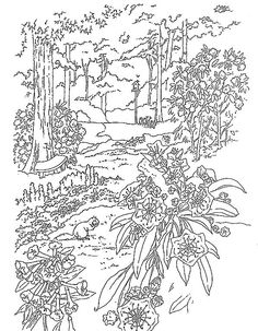 Printable Waterfall Nature Scene Coloring Page - Coloring ...