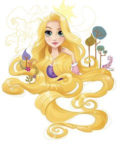 Project for Disney. Sketchy drawings and vector illustrations of Disney Princesses. Anime Disney Princess, Disney Rapunzel, Disney Princess Cartoons, Disney Princess Quotes, Disney Princess Pictures, Disney Princess Drawings, Film Disney, Disney Drawings, Tangled Rapunzel