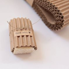 KRAFT Corrugated Wrap  3 Yards x 3 inches wide by leboxboutique, $3.75