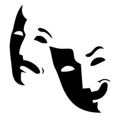 comedy and tragedy masks free clip art aard pinterest comedy
