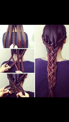 Woah big braid