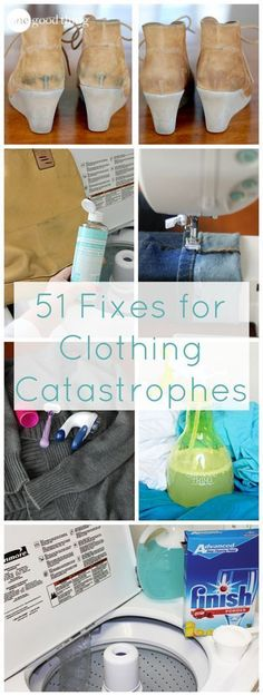 The next time you're tempted to throw away something in your wardrobe you think is loss because of some catastrophe or another....STOP! Read this post first! :-)