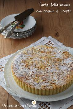 torta nonna crema ricotta mandorle