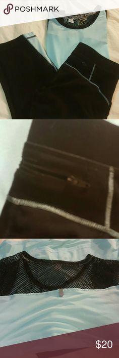 Fila workout capris and top..EUC Capris are an xs..and shirt a large Fila Pants Capris