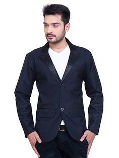 874099cc6b3cd A.B.C. Garments Dark Blue Matty Cotton Single Breasted Blazer For Men  Blazers For Men