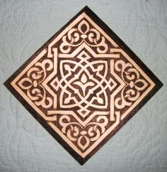 """Scott Whitney.  """"Pyrography from the Dover coloring book Arabic Floral Coloring Book."""""""