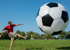 Giant Inflatable Soccer Ball, $148 | 31 Things You Never Knew You Needed For A Fun Summer