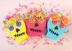 Azúcar cráneo Pinata caja de tarjeta DIa de Los Muertos día