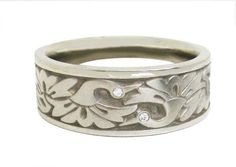 """""""Cranes"""" in White gold by Studio 311 Jewelry Crafts, Jewelry Ideas, Expressive Art, Unique Rings, Handcrafted Jewelry, Bridal Jewelry, Fashion Accessories, Silver Rings, White Gold"""