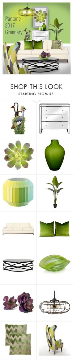 """""""For Tastemasters Design Group: Greenery"""" by constanceann ❤ liked on Polyvore featuring interior, interiors, interior design, home, home decor, interior decorating, Napa Home & Garden, Villeroy & Boch, Rosenthal and Nearly Natural"""