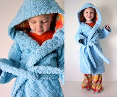Pattern Remix: Beach Robe Pattern to cozy House Robe | MADE (For my little guy!!)