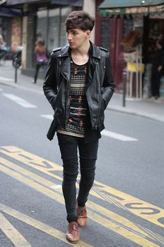 yes. #leather #jacket #shoes #onpoint