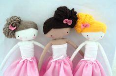 Ballerinas rag dolls by lassandaliasdeana on Etsy
