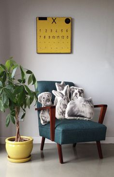 Animal Cushions, Entryway Bench, Accent Chairs, Interior, Handsome, Furniture, Etsy, Home Decor, Entry Bench
